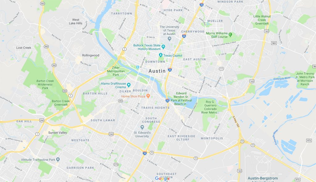 map of central austin