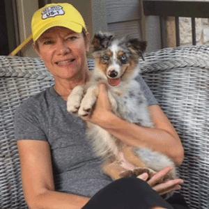 pet sitter with Dakota
